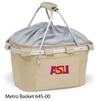 Arizona State Embroidered Metro Basket Picnic Basket Beige