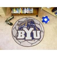 Brigham Young University Soccer Ball Rug
