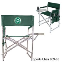 Colorado State Printed Sports Chair Hunter Green