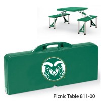 Colorado State Printed Picnic Table Hunter Green