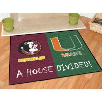 Florida State-Miami  All-Star House Divided Rug