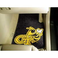 Georgia Tech 2 Piece Front Car Mats