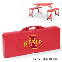 Iowa State Printed Picnic Table Red