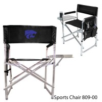 Kansas State Embroidered Sports Chair Black