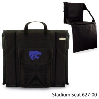 Kansas State Printed Stadium Seat Black