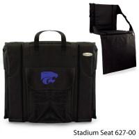 Kansas State Printed Stadium Seat Black