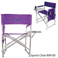 Louisiana State Embroidered Sports Chair 101 Purple