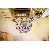 Louisiana State University Soccer Ball Rug