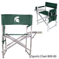 Michigan State Printed Sports Chair Hunter Green