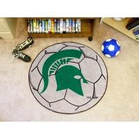 Michigan State University Soccer Ball Rug