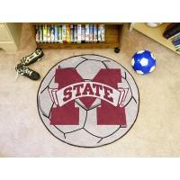 Mississippi State University Soccer Ball Rug