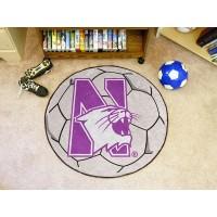 Northwestern University Soccer Ball Rug