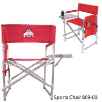Ohio State Embroidered Sports Chair Red