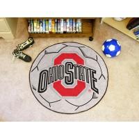 Ohio State University Soccer Ball Rug