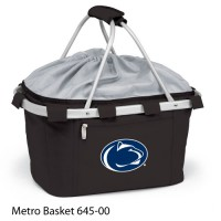 Pennsylvania State Embroidered Metro Basket Picnic Basket Black