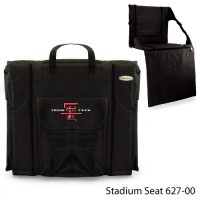 Texas Tech Printed Stadium Seat Black