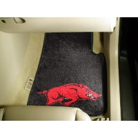 University of Arkansas 2 Piece Front Car Mats