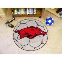 University of Arkansas Soccer Ball Rug