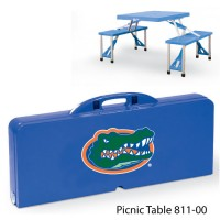 University of Florida Printed Picnic Table Royal Blue