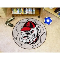 University of Georgia Soccer Ball Rug