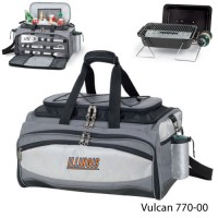 University of Illinois Embroidered Vulcan BBQ grill Grey/Black