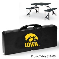 University of Iowa Printed Picnic Table Black
