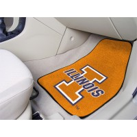 University of Illinois 2 Piece Front Car Mats