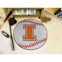 University of Illinois Baseball Rug