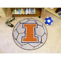 University of Illinois Soccer Ball Rug