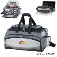 University of Kansas Embroidered Vulcan BBQ grill Grey/Black