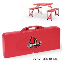 University of Louisville Printed Picnic Table Red