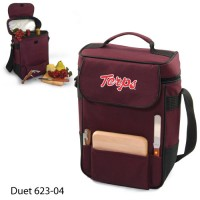 University of Maryland Embroidered Duet Tote Burgundy