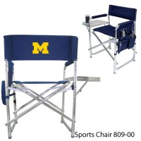 University of Michigan Embroidered Sports Chair Navy