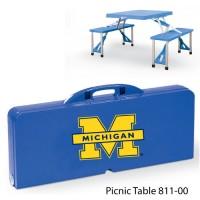 University of Michigan Printed Picnic Table Navy