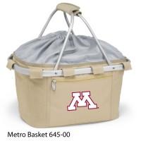 University of Minnesota Embroidered Metro Basket Picnic Basket Beige