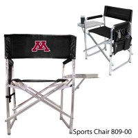 University of Minnesota Embroidered Sports Chair Black
