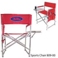 University of Mississippi Printed Sports Chair Red