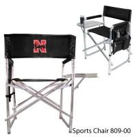 University of Nebraska Embroidered Sports Chair Black