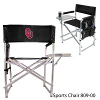 University of Oklahoma Embroidered Sports Chair Black