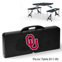 University of Oklahoma Printed Picnic Table Black