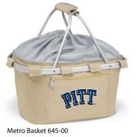 University of Pittsburgh Printed Metro Basket Picnic Basket Beige