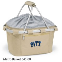 University of Pittsburgh Embroidered Metro Basket Picnic Basket Beige