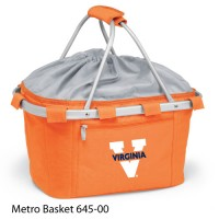 University of Virginia Embroidered Metro Basket Picnic Basket Orange