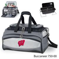 University of Wisconsin Embroidered Buccaneer Cooler Grey/Black