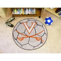 University of Virginia Soccer Ball Rug