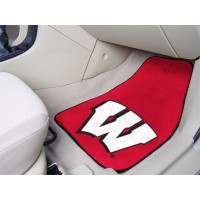 University of Wisconsin 2 Piece Front Car Mats