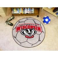 University of Wisconsin Soccer Ball Rug