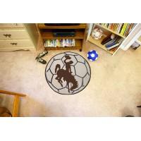 University of Wyoming Soccer Ball Rug
