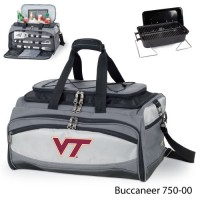 Virginia Tech Printed Buccaneer Cooler Grey/Black