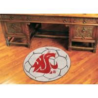 Washington State University Soccer Ball Rug